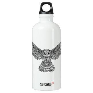 Flying Owl Zendoodle Water Bottle