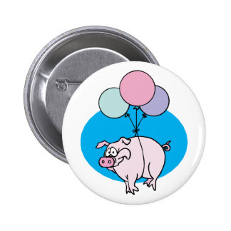 Flying Party Pig 6 Cm Round Badge