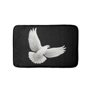 Flying Peace Dove Bath Mat