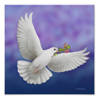Flying Peace Dove Print