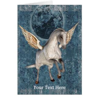 Flying Pegasus Fantasy Horse Art Photo Card
