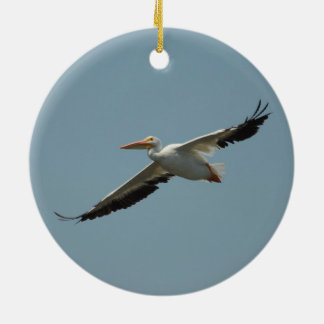 Flying Pelican 8 Christmas Ornament