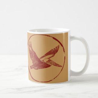 Flying Pelican by EKLEKTIX Coffee Mug