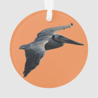Flying Pelican Christmas Ornament