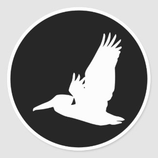 Flying Pelican Classic Round Sticker