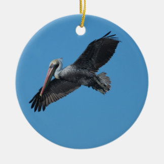 Flying Pelicans Ornament