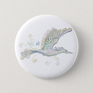 Flying Phoenix 6 Cm Round Badge