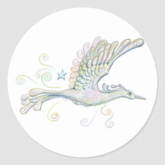 Flying Phoenix Classic Round Sticker
