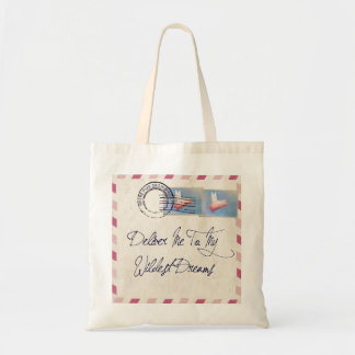 Flying Pig Airmail Tote Bag