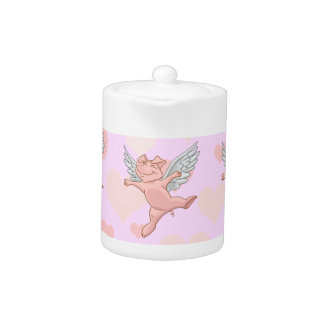 Flying Pig and Pink Hearts