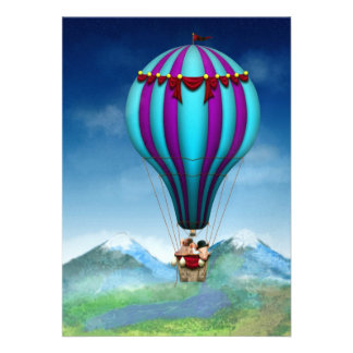 Flying Pig - Balloon - Up up and Away Custom Invite
