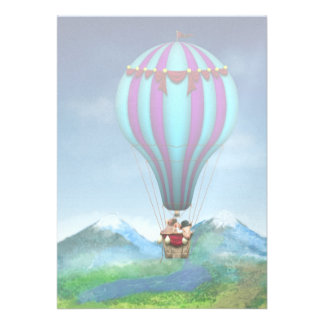 Flying Pig - Balloon - Up up and Away Invites