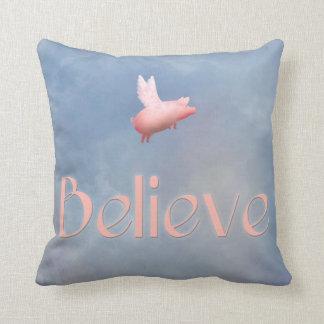 Flying Pig-Believe Cushion