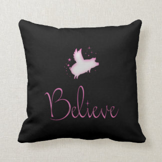 Flying Pig Believe Cushion