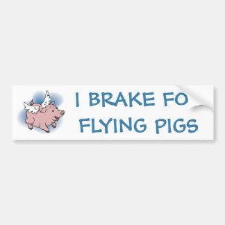 Flying Pig Bumper Sticker