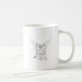Flying Pig Cartoon Coffee Mug