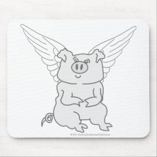 Flying Pig Cartoon Mouse Pad