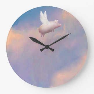 flying pig clock