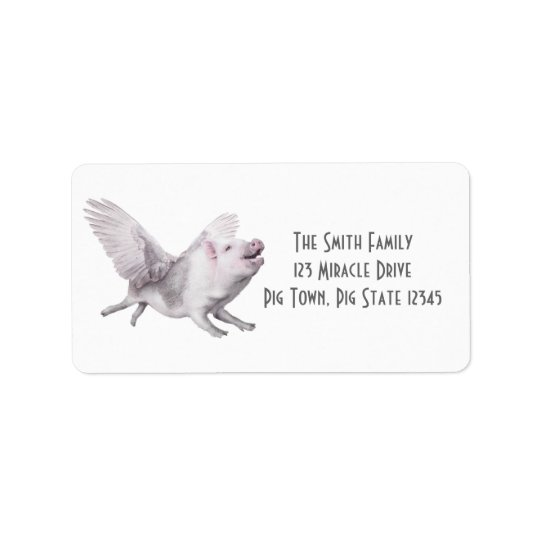 Flying Pig Creative Address Labels When Pigs Fly