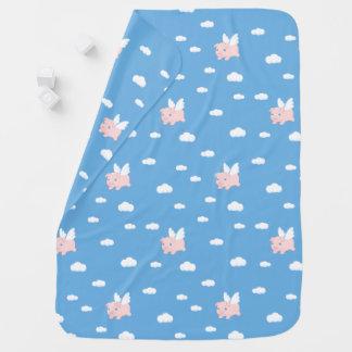 Flying Pig - Cute Piglet with Wings Baby Blanket