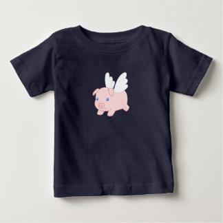 Flying Pig - Cute Piglet with Wings Baby T-Shirt