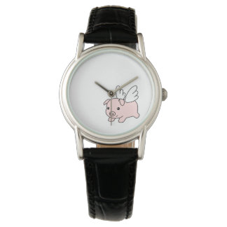 Flying Pig - Cute Piglet with Wings Watch