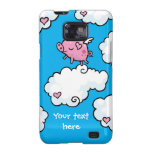 Flying pig dances on clouds samsung galaxy s covers