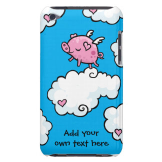 Flying Pig Dances on Clouds Customisable Barely There iPod Case