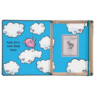 Flying Pig Dances on Clouds Customisable Covers For iPad