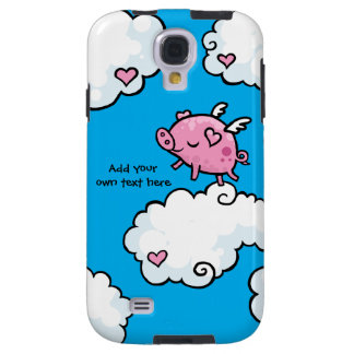 Flying Pig Dances on Clouds Customisable Galaxy S4 Case