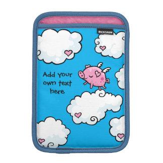 Flying Pig Dances on Clouds Customisable iPad Mini Sleeve