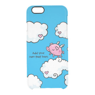 Flying Pig Dances on Clouds Customisable iPhone 6 Plus Case