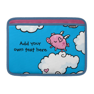 Flying Pig Dances on Clouds Customisable MacBook Sleeve