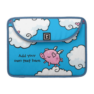 Flying Pig Dances on Clouds Customisable Sleeve For MacBook Pro
