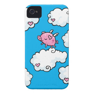Flying pig dances on clouds iPhone 4 cover