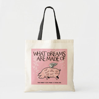 Flying Pig Diagram Tote Bag