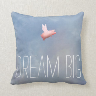 Flying Pig Dream Big Pillow