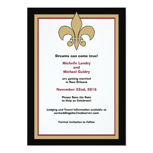 Flying Pig Fleur de Lis Save the Date Card