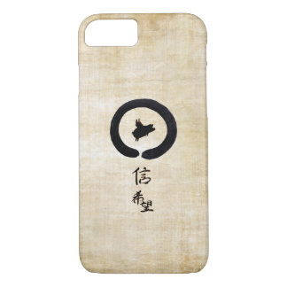 Flying Pig-Hope and Faith In Chinese Calligraphy iPhone 8/7 Case