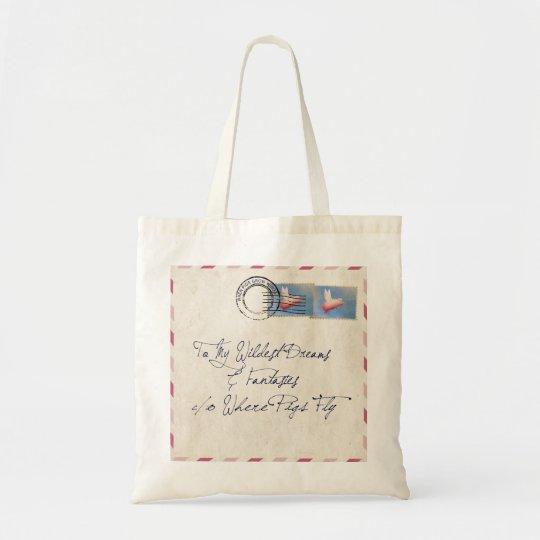 Flying Pig Mail Tote Bag