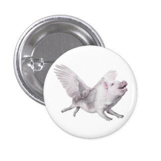 Flying Pig Miracles Happen When Pigs Fly Button