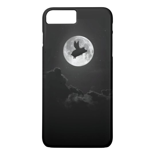 flying pig moon iphone case