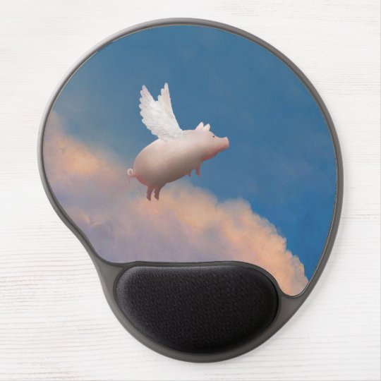 flying pig mousepad gel mouse mat