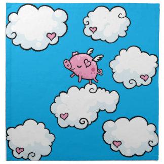 Flying Pig Napkin