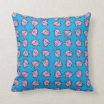 Flying Pig Patterned Pillow