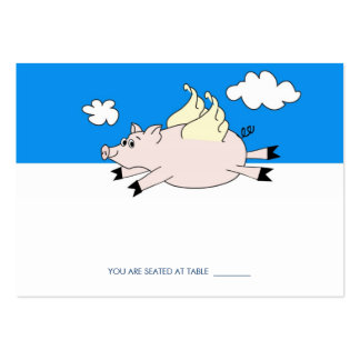 Flying Pig Place Cards Business Card Template