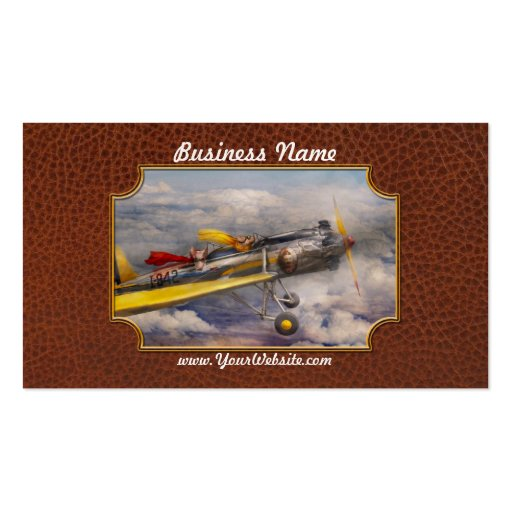 Flying Pig - Plane -The joy ride Business Cards