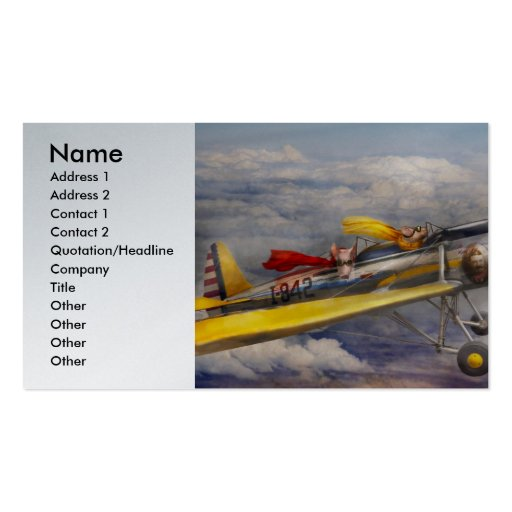 Flying Pig - Plane -The joy ride Business Card Template