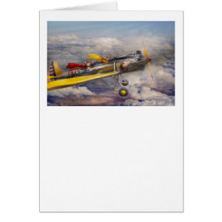 Flying Pig - Plane -The joy ride Greeting Cards