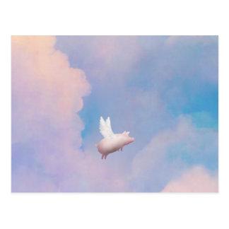 flying pig postcard